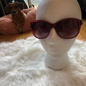 Pink oversized Coach sunglasses